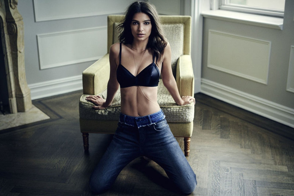 Emily Ratajkowski Heats Up in Double Denim for DL1961 2017 Fall Campaign