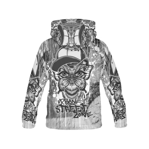 All Over Print Hoodie For Men - Butterfly Mask Hoodie