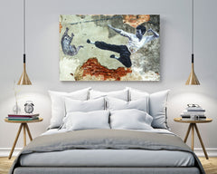 Bruce Flying Kick Canvas Print