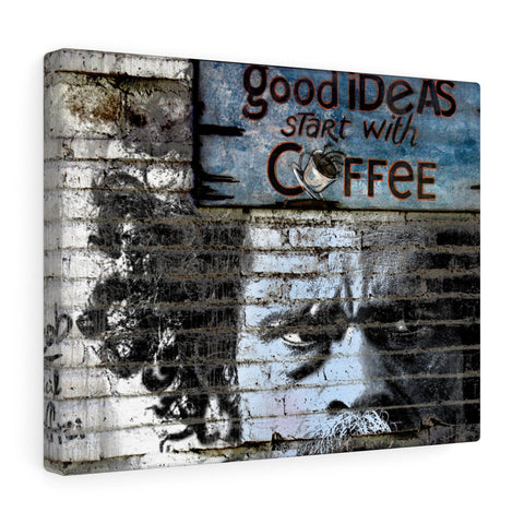 Canvas - Good Ideas Start With Coffee Print