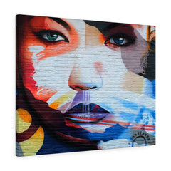 Canvas - Graffiti Face Wall Print
