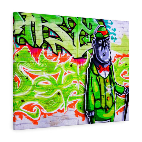 Canvas - Green Graffiti Creature