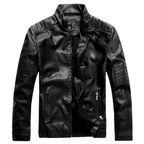 Jacket - Mens Leather Motorbike Jacket
