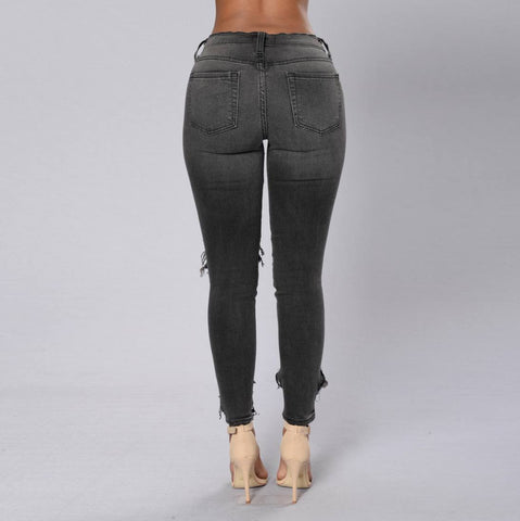 Jeans - Ladies Hollow Out Jeans
