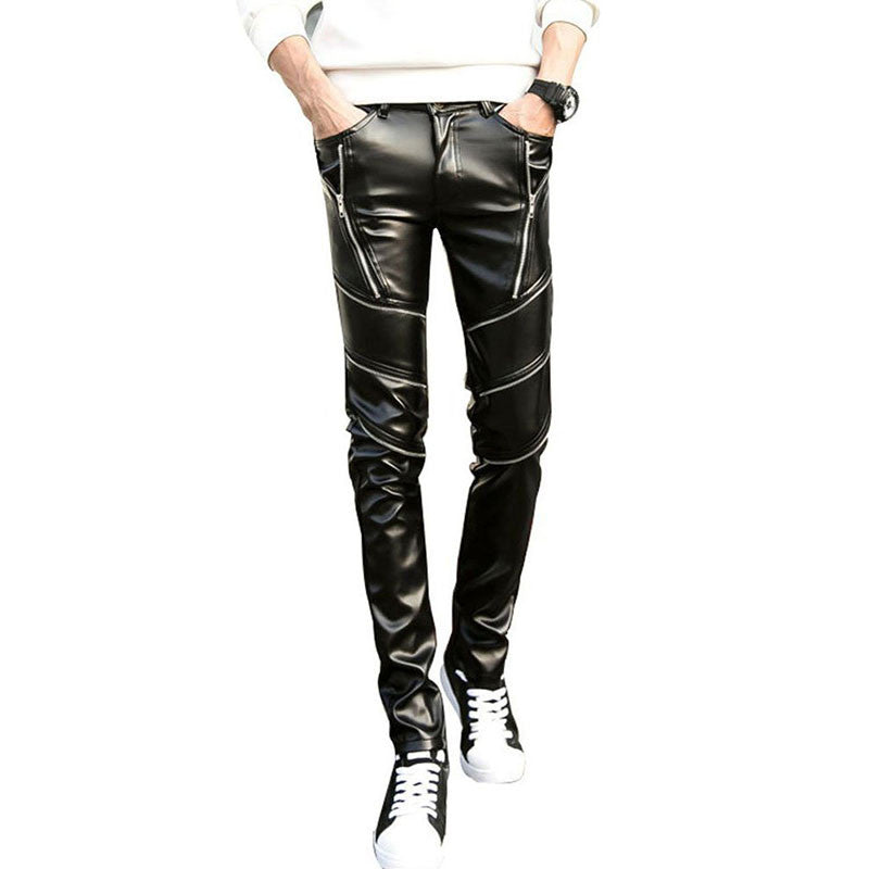 Leather - Mens Swag Skinny Faux Leather Pants