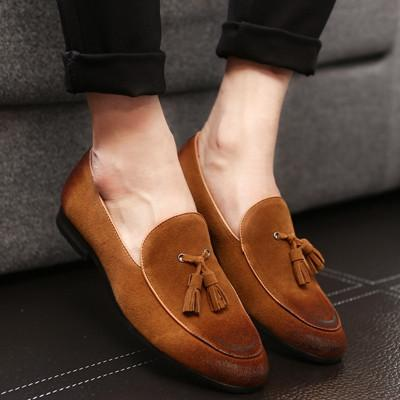 Loafers - Mens Suede Tassel Loafers
