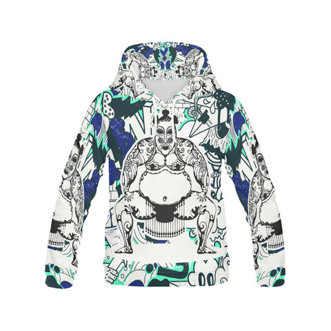 Men's All Over Print Hoodie - Sumo Power Hoodie