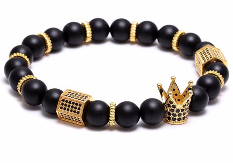 Men's Gold King Charm Bracelet