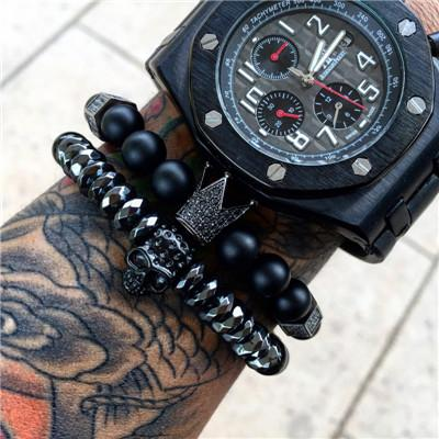 Men's Warrior Steel Skull Bracelet