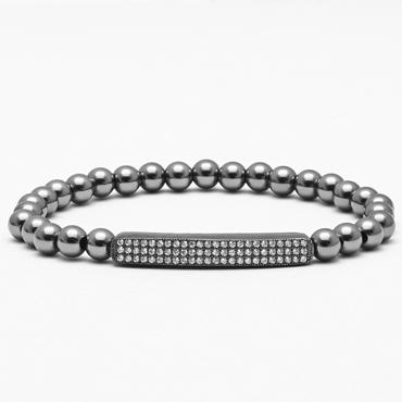 Men's Zircon Bar Bangle Bracelet