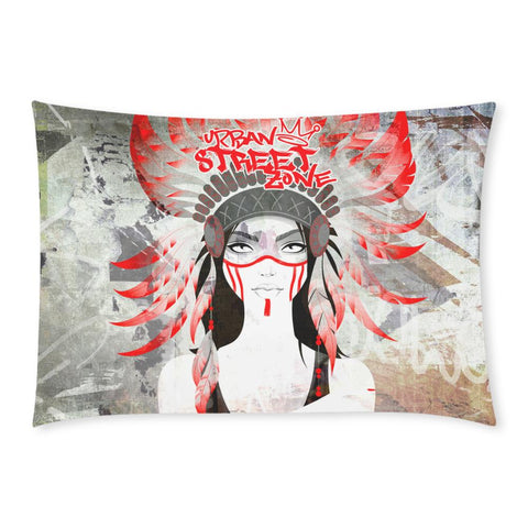 "Pillow Case 20""x 30""(One Side) - Indian Girl Pillow Case Custom Rectangle Pillow Cases 20x30 (One Side)"