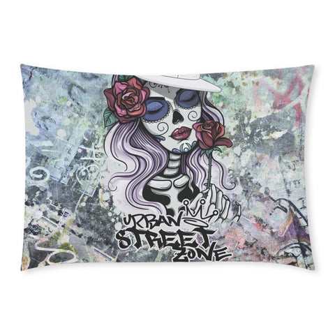 "Pillow Case 20""x 30""(One Side) - Rose Girl Pillow  Case"