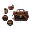 Image of Antique Classic Leather Leisure Satchel