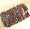 Image of Hot Leather Bracelets 6pcs/set several combinations