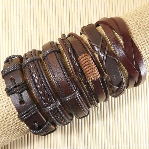 Hot Leather Bracelets 6pcs/set several combinations