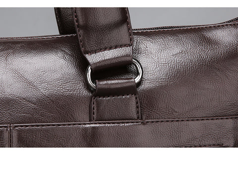 Casual Urban Shoulder Leather Briefcase