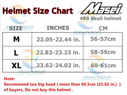 Masei Skull Motorcycle Helmet 6 colors