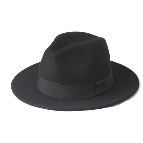 100% Wool Wide Brim Gentlemens Fedora 4 colors