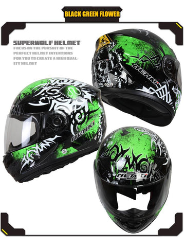 Full Face Skull Motorcycle Helmet 6 colors