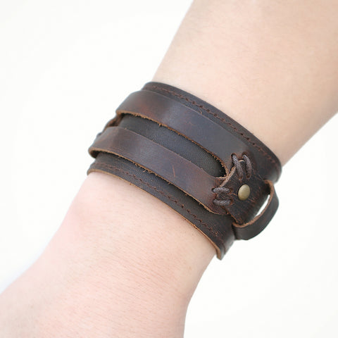 Mens Vintage Fashion Leather Bracelet