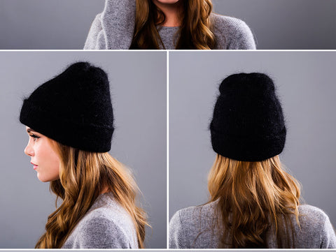 Hot Angora Knitted Classic Beanies
