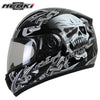 Image of Full Face Skull Motorcycle Helmet 6 colors