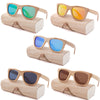 Image of Bamboo Polarized Sunglasses UV400 w/ Wood Case