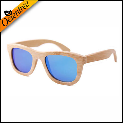 Bamboo Polarized Sunglasses UV400 w/ Wood Case
