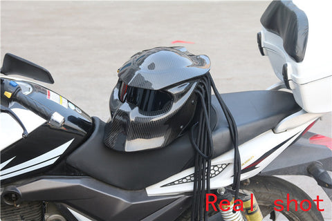 New Carbon Fiber Predator Motorcycle Helmet - Urban Street Zone1