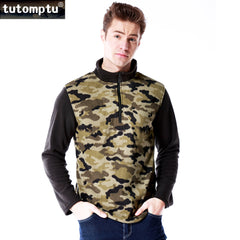 Mens Fleece Camo Jacket