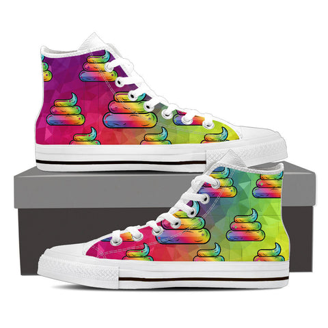 Shoes - Rainbow Poo High Tops