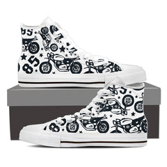 Shoes - Vintage Motorcycle High Tops