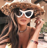 Sunglasses - Retro Cat Eye Sunglasses