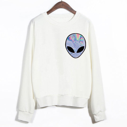 Sweater - Alien Printed Sport Sweatshirt