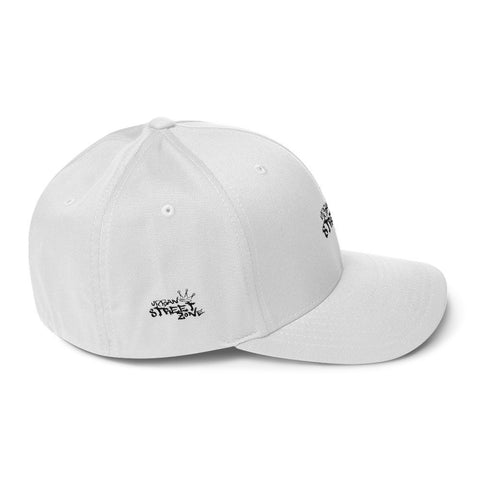 Urban Street Zone Fitted Snapback (White)