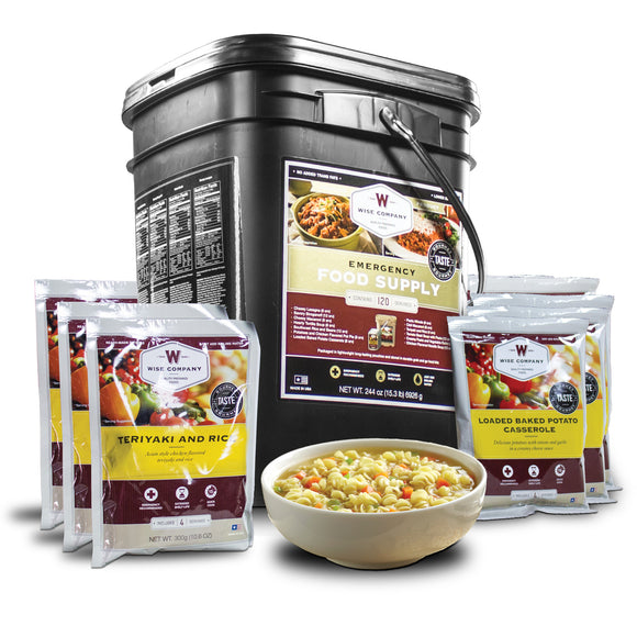 120 Servings of Wise Emergency Survival Food Entrees - Wise Company - Northwest Radio Supply