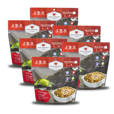Chili Mac with Beef Camping Food (Case of 6) - Wise Company - Northwest Radio Supply