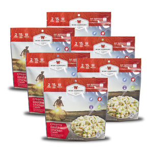Creamy Pasta with Chicken Camping Food (Case of 6) - Wise Company - Northwest Radio Supply