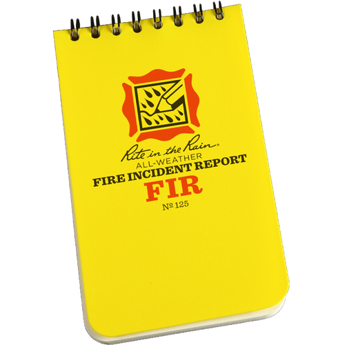 Fire Incident Report (yellow) - Rite in the Rain - Northwest Radio Supply