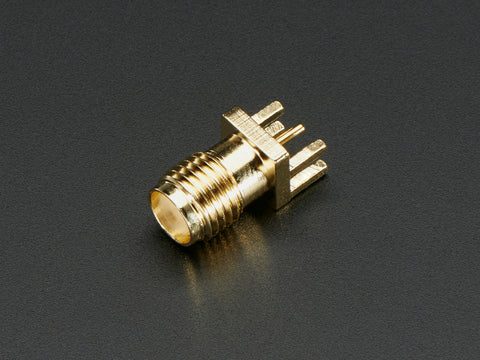 "Edge-Launch SMA Connector for 1.6mm / 0.062"" Thick PCBs - Adafruit - Northwest Radio Supply"