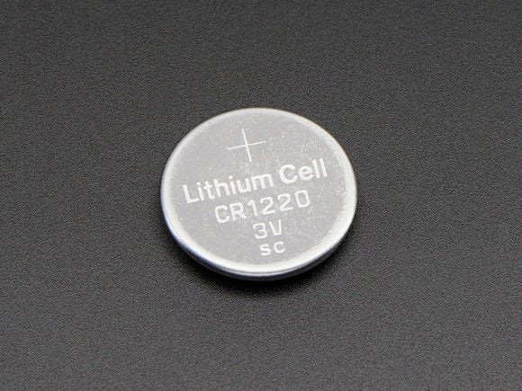 CR1220 12mm Diameter - 3V Lithium Coin Cell Battery - CR1220 - Adafruit - Northwest Radio Supply