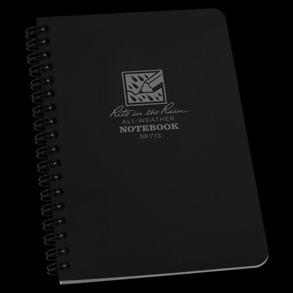 Side-Spiral Notebook (black)