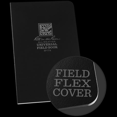 Field-Flex Bound Book (black) - Rite in the Rain - Northwest Radio Supply