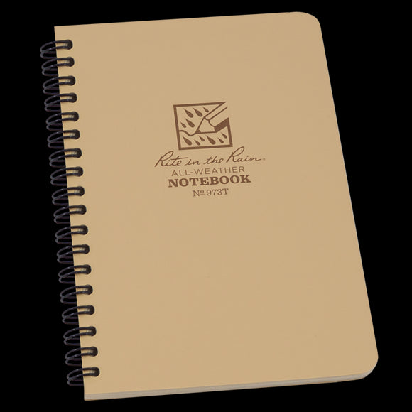 Side-Spiral Notebook (tan)