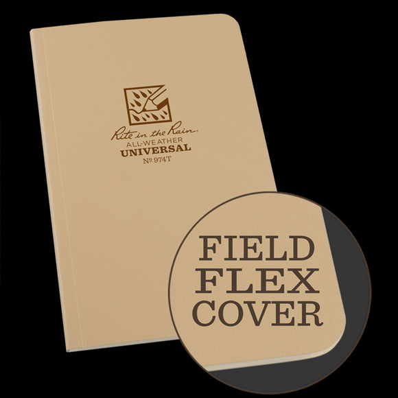 Field-Flex Bound Book (tan) - Rite in the Rain - Northwest Radio Supply