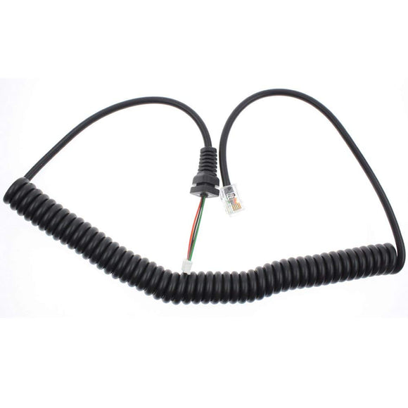 Microphone Cable Cord for Yaesu Radio MH-36-B6J FT-90R FT-100 FT-100D FT-2600M FT-3000M FT-8000R FT-8100R - Amazon - Northwest Radio Supply