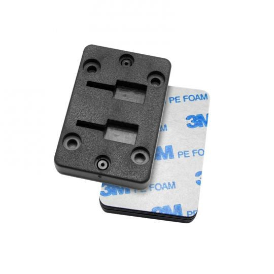 Horizontal Female Dual T-Slot to 4-Hole AMPS Adapter with 3M Adhesive Back - Arkon - Northwest Radio Supply