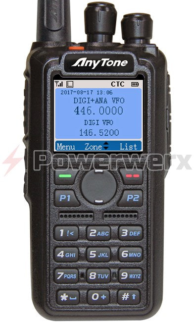 Anytone AT-D868UV Digital DMR Dual-band Handheld Commercial Radio - Powerwerx - Northwest Radio Supply