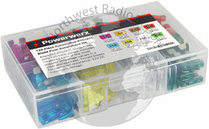 120 Piece Automotive ATO/ATC Blade Fuse Assortment Kit - Powerwerx - Northwest Radio Supply
