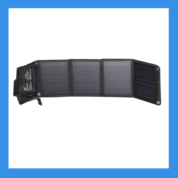 28 Watt Foldable Solar Panel for Charging Power Packs - BioEnno - Northwest Radio Supply